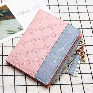 Women Fashion Zipper Short Wallet